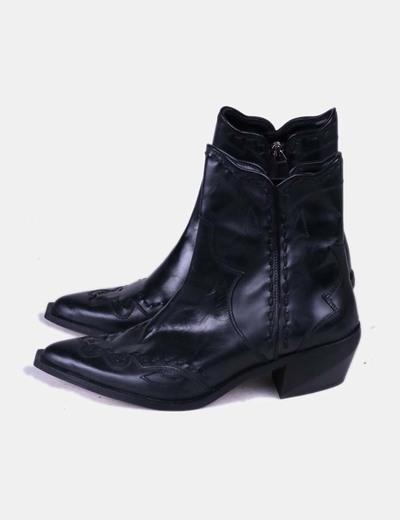 Botas cowboy negras Zara
