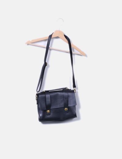 Bolso satchel negro Nat & nin