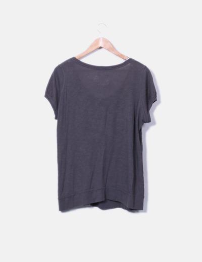 Camiseta marron manga corta