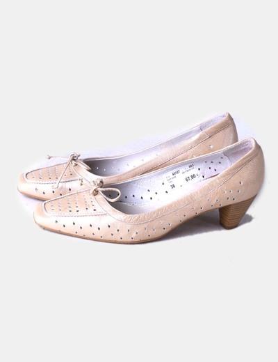 Oro Beige Zapato Zapato Beige Troquelado WH2EDY9I