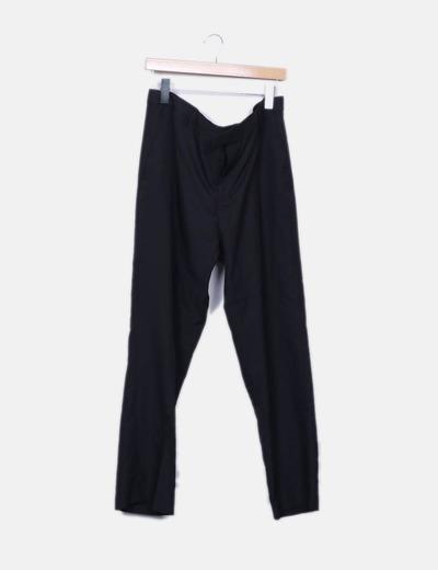 Pantalon vestir negro recto