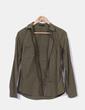 Camisa verde caqui con bolsillos Massimo Dutti
