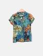 Camisa fluida floral manga corta Pull&Bear