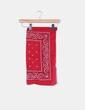 Pañuelo rojo estampado greca NoName