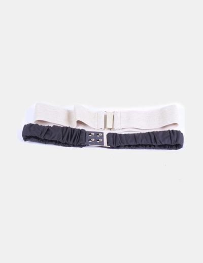 Conjunto de 2 cinturones elásticos dorado y negro Suiteblanco