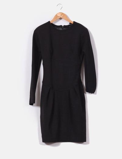Vestidos negro en mango