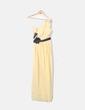Vestido de fiesta amarillo asimétrico con pedrería Ever Pretty