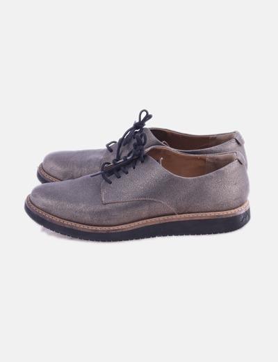 Zapato glitter con cordones