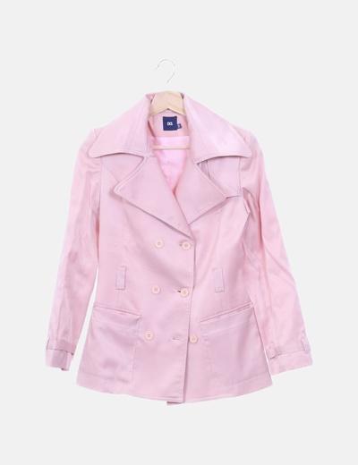 Blazer rosa satinada
