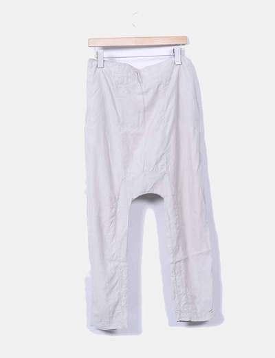 Pantalon harem beige