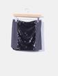 Mini falda gris marengo lentejuelas negras Sfera