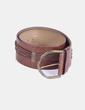 Cinturón marrón combinado Tex Woman