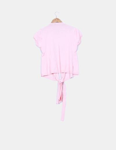Top rosa con abalorios
