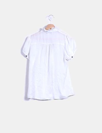 Blusa blanca manga corta