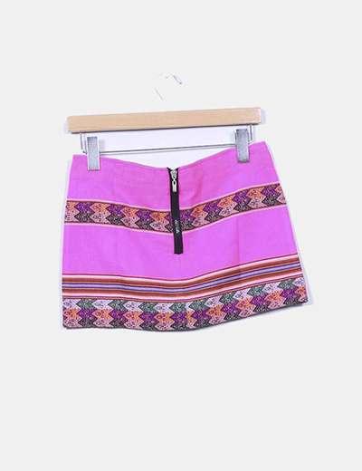 Mini falda inca rosa