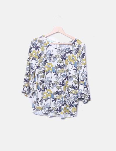 Blusa gasa estampado floral