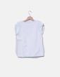 Camiseta blanca lazos verde Purificación García