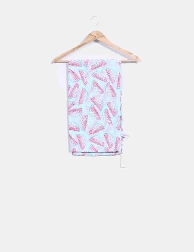 Foulard color mint print sandías  Pieces