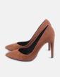 Zapato camel tacón Bershka