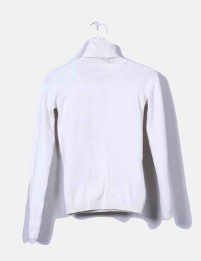 Jersey punto color crudo cuello vuelto Zara