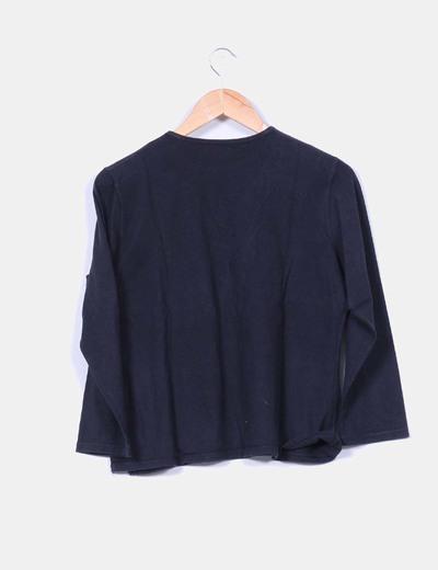 Camiseta estampada azul marino