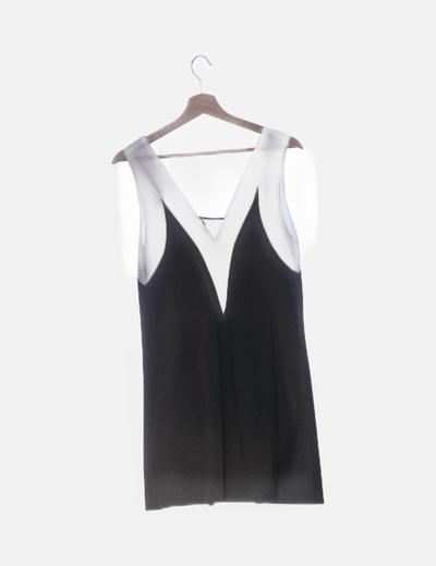 salida de fábrica obtener online el precio más baratas Vestido negro y blanco