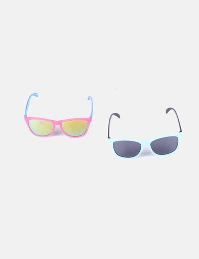 Conjunto de gafas azul mint y rosa