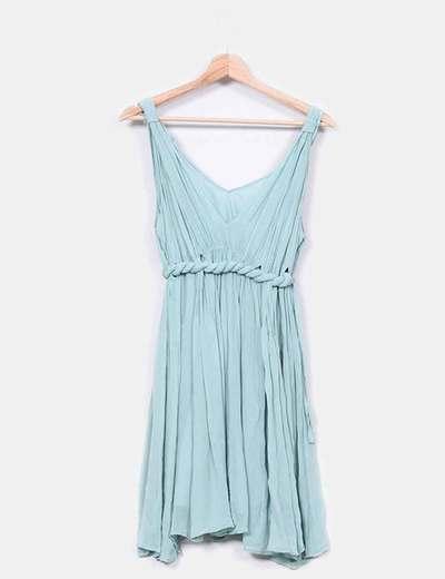 Vestido azul celeste con cuerda Hoss Intropia