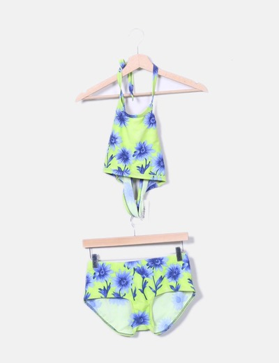 Esrampado bikini floral vert El Corte Inglés