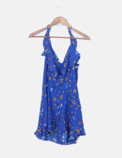 Mono azul floral