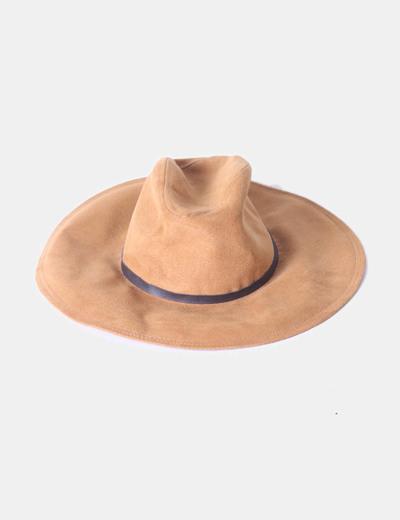 Sombrero fedora camel ala ancha Zara