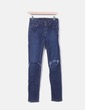 Jeans denim oscuro ripped Pull&Bear