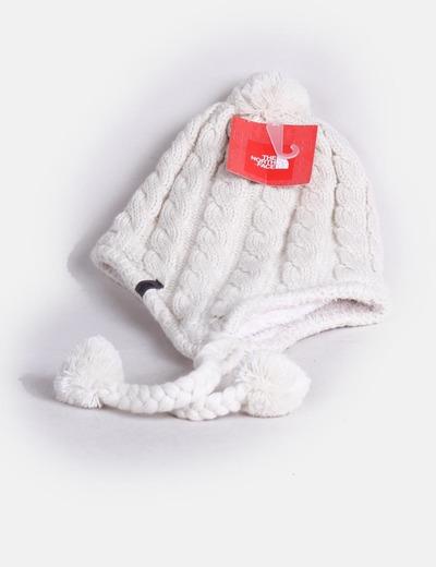 Bonnet avec pompons blanc The North Face