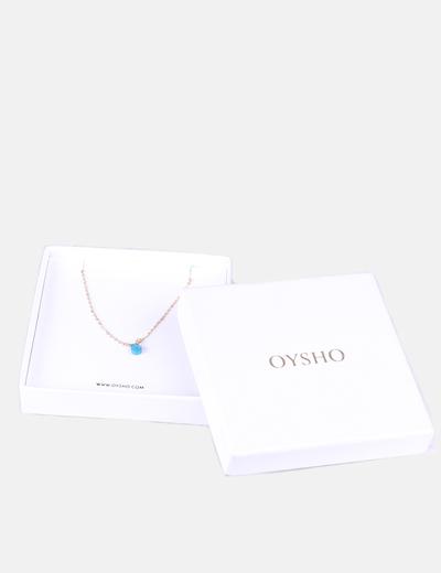 Collar dorado piedra azul Oysho
