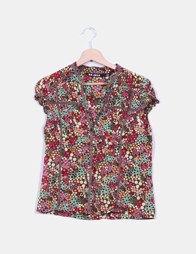 Camisa floral de manga corta Suiteblanco