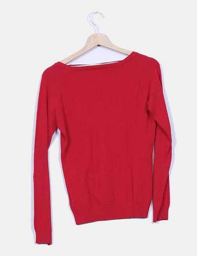Jersey rojo cuello pico