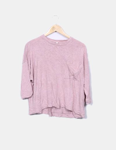 Suéter tricot rosa oversize