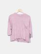 Suéter tricot rosa oversize Stradivarius