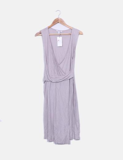 Vestido fluido lila cruzado Suiteblanco
