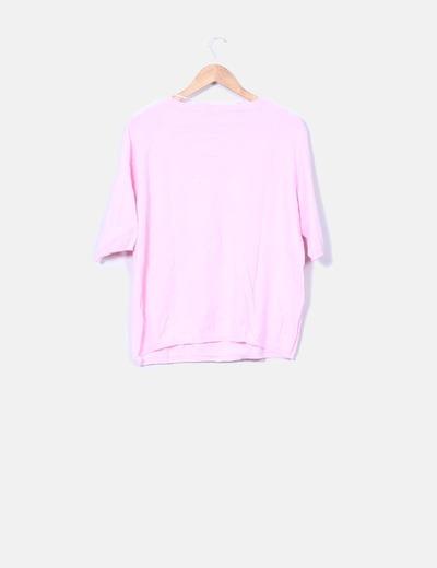 Sueter tricot rosa baby manga media