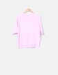Suéter tricot rosa baby manga media Zara