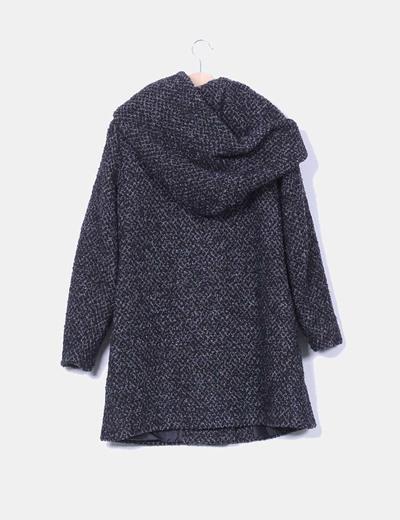 Abrigo largo de lana gris marengo jaspeado