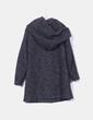 Abrigo largo de lana gris marengo jaspeado Vila