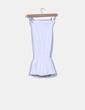 Blusa elástica blanca drapeada Las Dalias