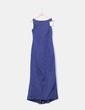 Vestido maxi raso azul marino CeDosCE