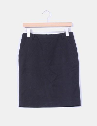 Falda midi negra Reserved