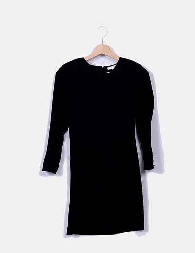 Ba Sh Vestido midi preto (desconto de 88%) - Micolet cc1b1546c712