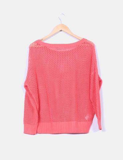Jersey tricot coral troquelado