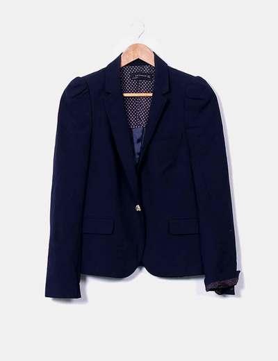 Blazer bleu marine Zara