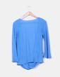 Blusa azul fluida con gran escote Zara